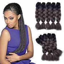 how many packs of hair for jumbo braids jumbo braid hair extension 1b darkgray color kanekalon fiber for