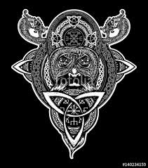 viking warrior tattoo northern warrior t shirt design celtic