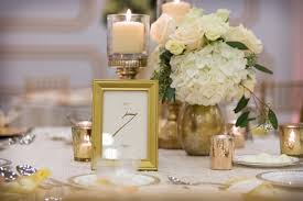wedding reception table ivory and gold wedding reception table decor with white flowers