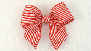 ribbon bow diy gingham bow tutorial diy ribbon bow 6