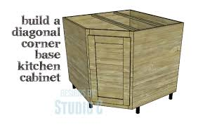 corner kitchen sink cabinet plans diy plans to build a diagonal corner base kitchen cabinet