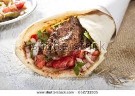 arabic wrap turkish arabic traditional ramadan adana kebab stock photo