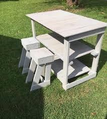 Pallet Kitchen Island by Pallet Island Table Stools U2013 Kitchen Set 99 Pallets