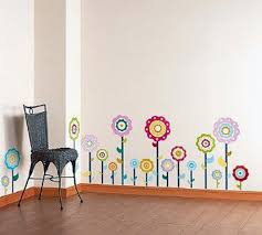 Childrens Bedroom Wall Stickers Removable Cheery Flower Wall Decals Ideas Decoration U0026 Furniture