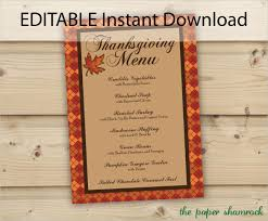 editable menu template thanksgiving menu template 27 free psd eps format