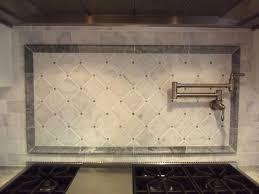 Carrara Marble Subway Tile Kitchen Backsplash White Marble Backsplash Traditional Kitchen Boston Accent Tiles