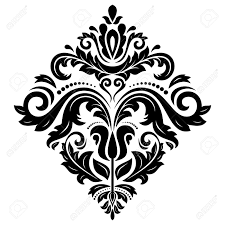 floral vector pattern with damask arabesque and floral