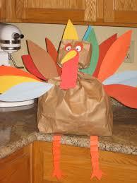 thanksgiving pinata paper bag turkey craft gallery craft decoration ideas