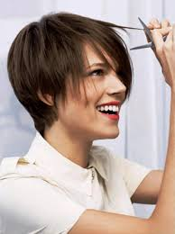 pictures of straight short brown hairstyles