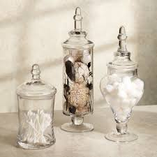 bathroom glass jars glass jars bathroom bathroom containers