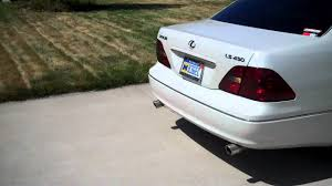 white lexus ls430 for sale lexus ls430 flowmaster exhaust updated hd youtube