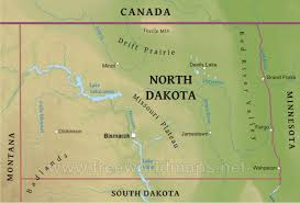 North Dakota mountains images Physical map of north dakota jpg