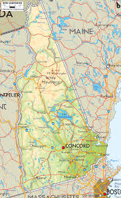 map usa new hshire physical map of new hshire ezilon maps