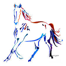 horse of many colors painting horse of many colors fine art