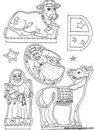 nativity diorama christmas coloring pages 04 children bible