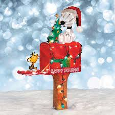 Snoopy Outdoor Christmas Decorations Snoopy Mailbox Outdoor Christmas Decoration Billingsblessingbags Org