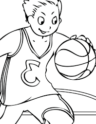 coloring pages basketball color sheet basketball player coloring