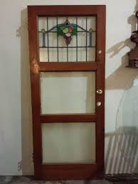 Antique Stained Glass Door by Antique Stained Glass Door Solid Pine 32 5