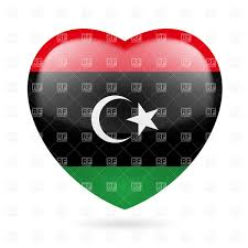 Flag Of Libya Template Of Car Plate Number With Flag Of Libya And Oval Country