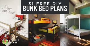 All In One Loft Twin Bunk Bed Bunk Beds Plans by 31 Diy Bunk Bed Plans U0026 Ideas That Will Save A Lot Of Bedroom Space