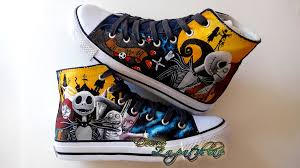 nightmare before custom shoes by j on deviantart