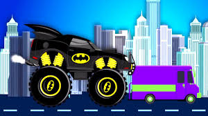 monster truck videos for children batmobile monster truck batman videos for children videos for