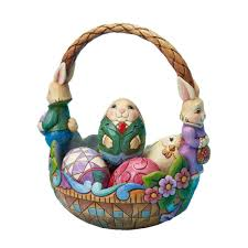 amazon com jim shore for enesco 7 inch bunny couple easter basket