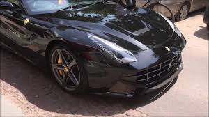 f12 berlinetta price in india delhi supercars ultra shiny black f12 spotted