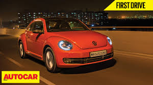 volkswagen beetle 2016 volkswagen beetle first drive autocar india youtube