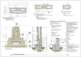 outdoor fireplace construction details building plans online