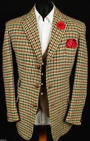 harris tweed blazer jacket vintage wedding country hacking 40r