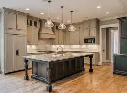 large kitchens with islands country kitchen island idea with grey cabinet and seating 9123 in