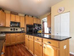 Maple Cabinets With Mocha Glaze Kitchen With Hardwood Floors U0026 European Cabinets In Antioch Il