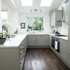 Shaker Kitchen Cabinet Plans White Shaker Style Kitchen With Grey Units Shaker Style Kitchens