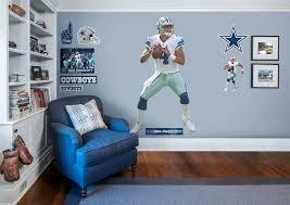 Dallas Cowboys Room Decor Life Size Dak Prescott Fathead Wall Decal Shop Dallas Cowboys