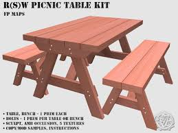 how to build a picnic table with separate benches home design