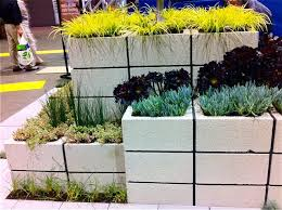 cinder block herb and flower planter my gardens