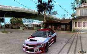 modified mitsubishi lancer 2000 2006 mitsubishi lancer evolution ix mr v2 for gta san andreas