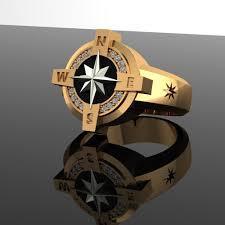 men ring men ring compass 3d printable model cgtrader