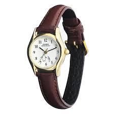 Jam Tangan Casio Diameter Kecil casio analog ltp 1094q 7b6 jam tangan wanita tali kulit