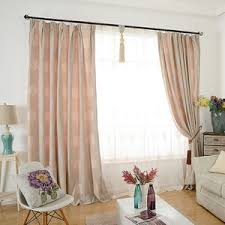 pink tree pastoral elegant thermal long pinch pleated curtains