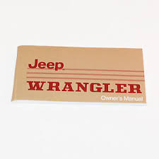 jeep wrangler owners manual jeep owners manual 1988 or 1989 jeep wrangler yj ebay