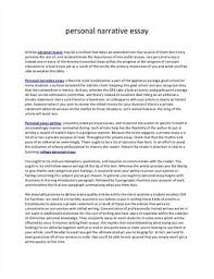 Example Of Personal Resume by Narrative Essay For College