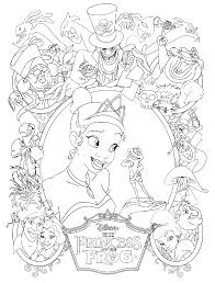 princess u0026 the frog coloring pages