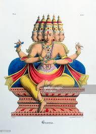 hindu l brahma god of the hindu trimurti and creator of