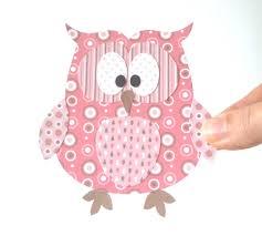 paper owl printable pink layered papercraft embellishment