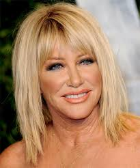 suzanne sommers hair dye suzanne somers medium straight casual hairstyle with layered bangs