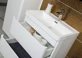 Bathroom Wall Hung Vanities Zenit 600mm White Gloss Wall Hung Bathroom Vanity Unit Inc Basin