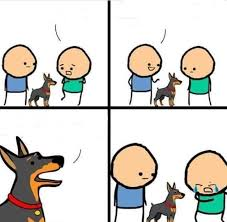 Cyanide And Happiness Memes - cyanide happiness dog does it bite blank template imgflip