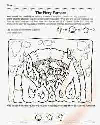 daniel fiery furnace coloring pages